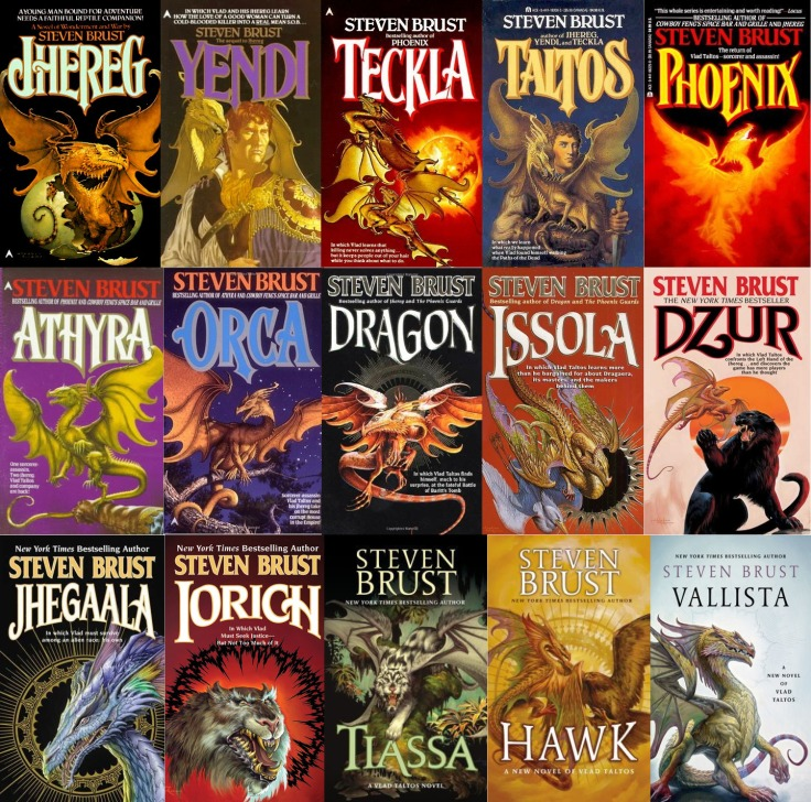 Steven Brust - Vlad Taltos (Jhereg) series covers